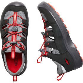 Keen Hikeport Vent Scarpe Bambino, raven/firey red